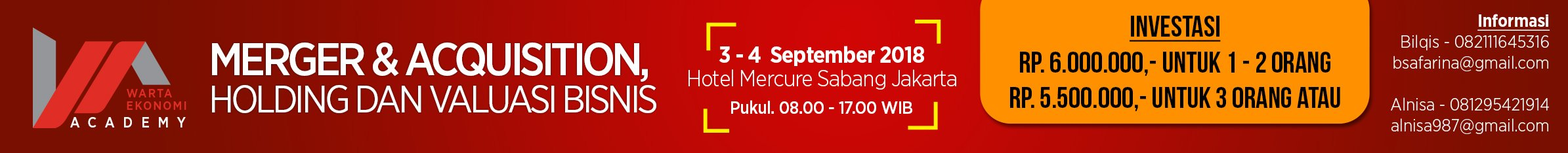 Merger & Acquisition, Holding, dan Valuasi Bisnis, Mercure