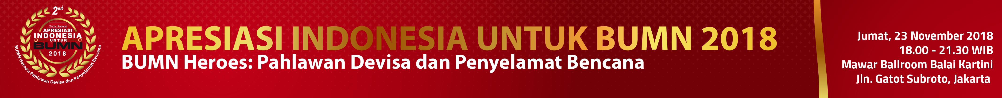 Apresiasi Indonesia untuk BUMN 2018
