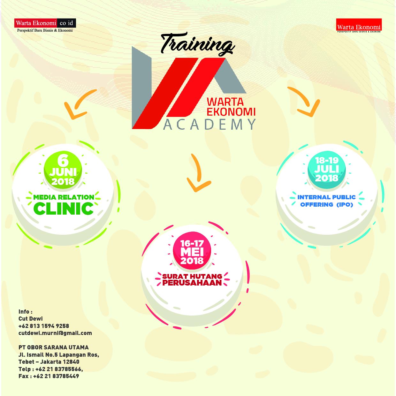 Training Warta Ekonomi Academy